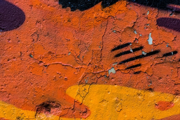 Velho muro de concreto pintado