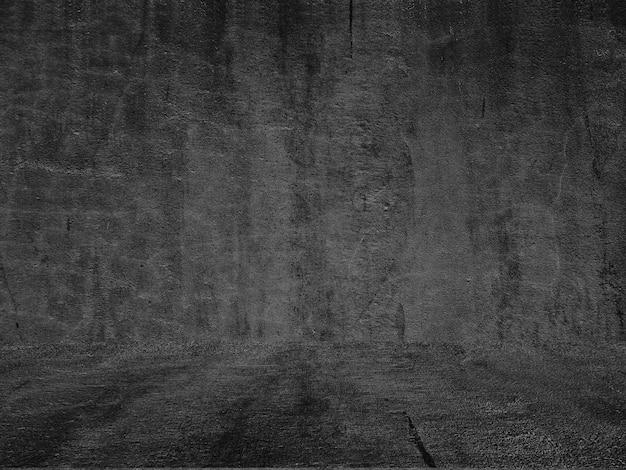 Velho muro preto. textura grunge papel de parede escuro. lousa quadro concreto