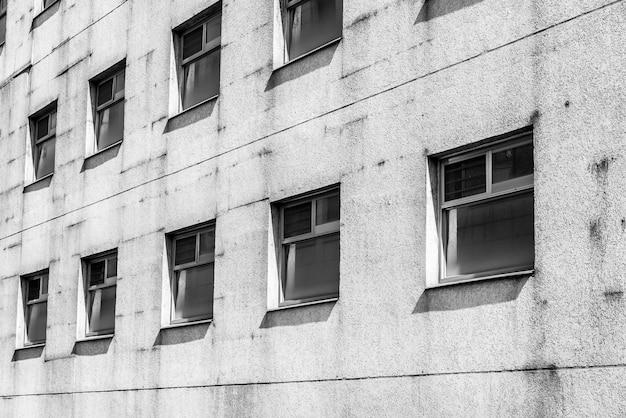 Velho padrão de janela preto e branco