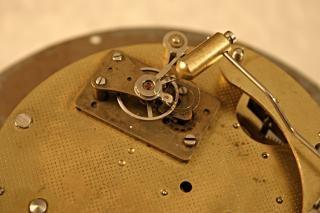 Velho tiro marcro relógio, dourado