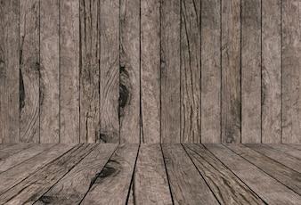 Velho vintage grungy bege brilhante madeira marrom fundos texturas com mesa