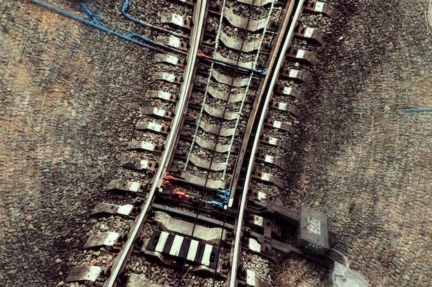 Velocidade e vertigem na estrada de ferro.