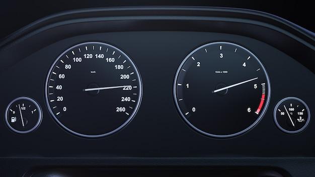 Velocímetro do carro que ganha a velocidade
