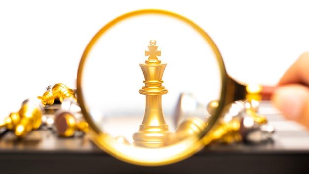 Vencedor do conceito de negócio, jogo de tabuleiro de xadrez