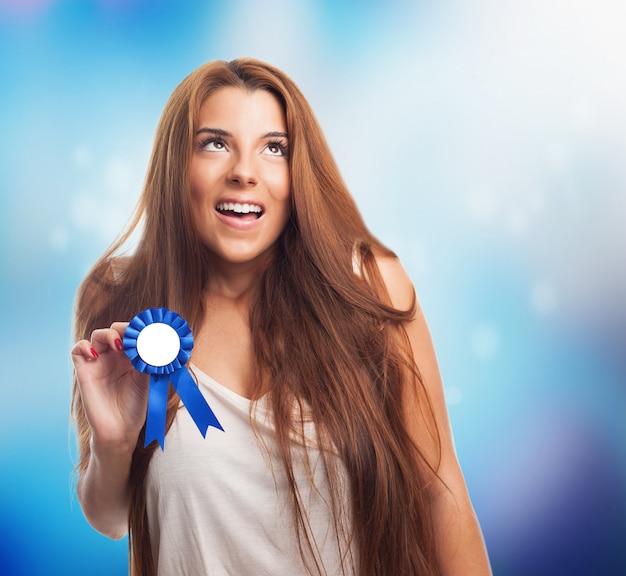 Vencedora em branco competição participação olímpica