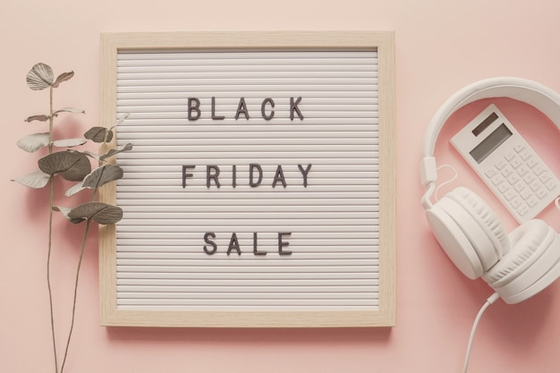 Venda da black friday no quadro de cartas