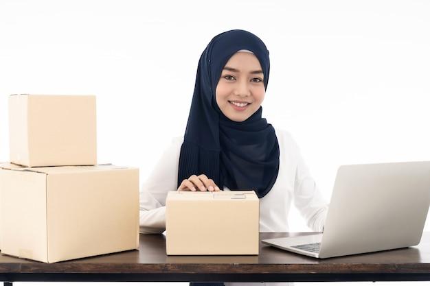 Venda de comerciante on-line muçulmana