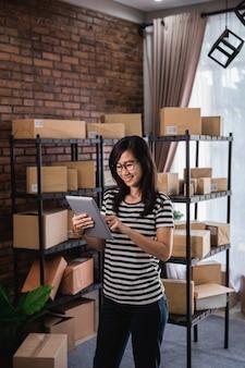 Venda de produtos on-line no mercado