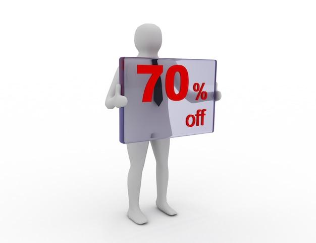 Vendas sazonais de 70 centavos de desconto em compras