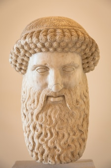 Veneza, itália - 27 de junho de 2016: cabeça de hermes no museu palazzo ducale