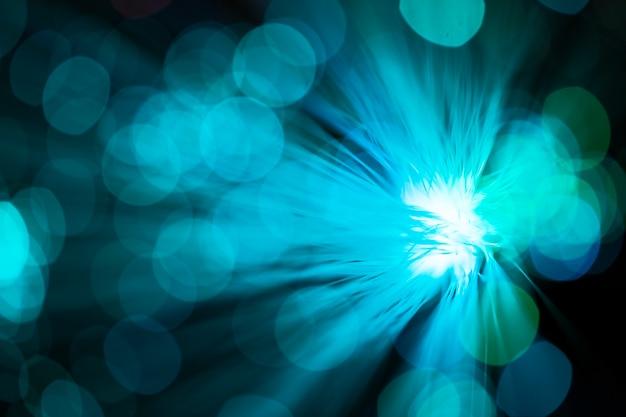 Ventilador abstrato azul em fibra óptica