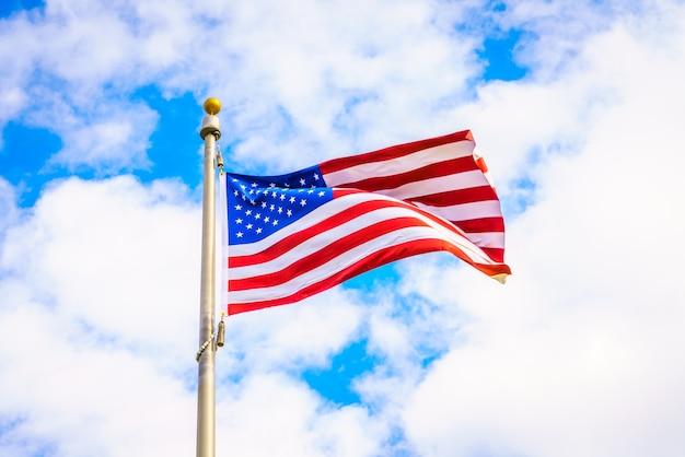 Vento, céu, verão, americano, vibrar