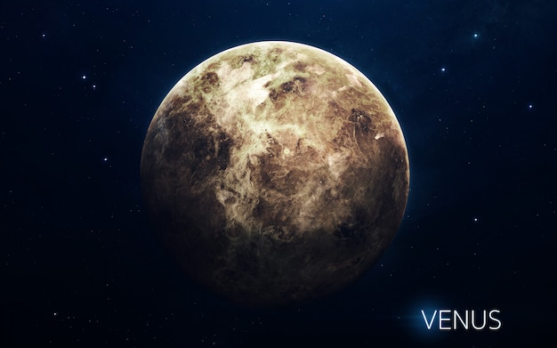 Vênus - planetas do sistema solar em alta qualidade. papel de parede de ciência.
