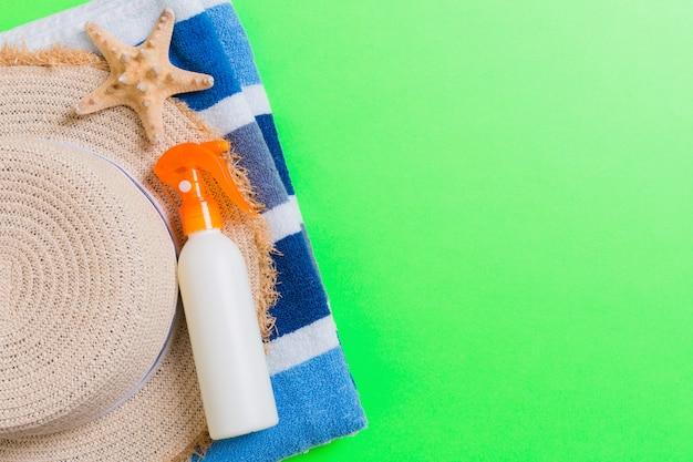 Verão praia plana leigos acessórios.