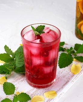 Verão refrescante bebida com bagas de cranberries