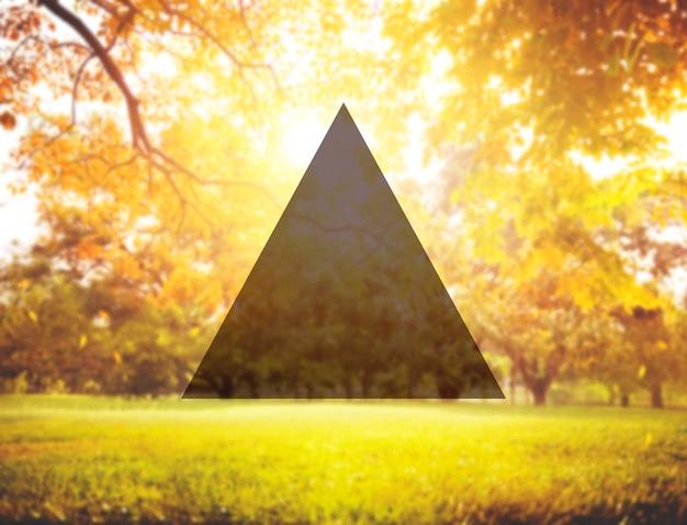 Verão união amizade triângulo copiar conceito de espaço
