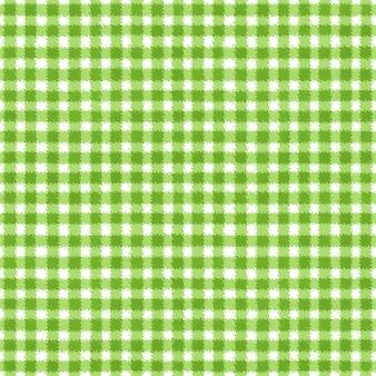 Verde e branco grunge guingão tartan xadrez ripply abstrato geométrico padrão de fundo sem emenda. mão-extraídas textura perfeita. papel de parede, embalagem, têxtil, tecido