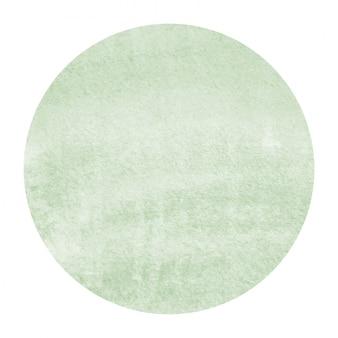 Verde escuro mão desenhada aquarela moldura circular textura de fundo com manchas