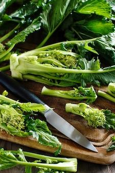 Verduras, cime di rape da itália