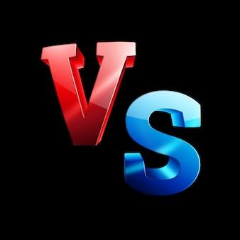 Vermelho-azul versus logotipo