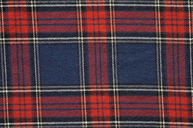 Vermelho e marinho escocês padrão textura textura de tecido