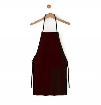 Vermelho escuro avental isolado