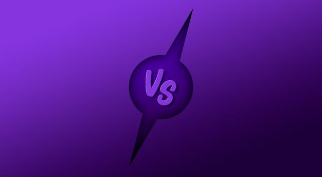 Versus vs lutar batalha fundo tela 3d render