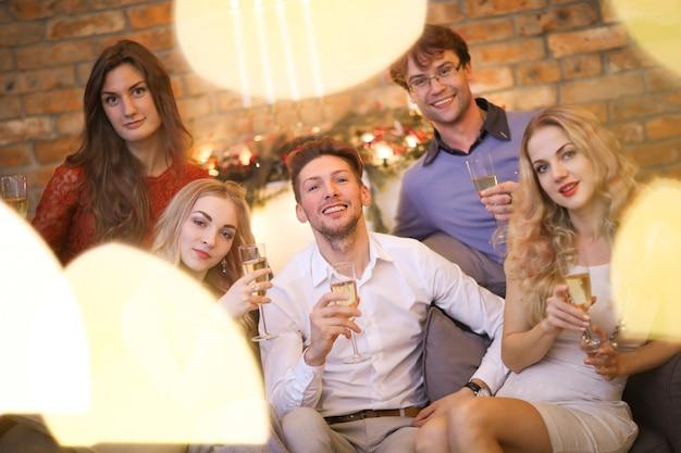 Véspera de natal com amigos