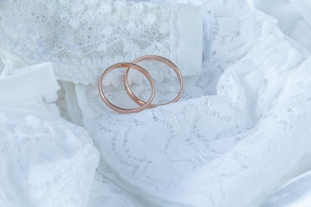 Vestido de casamento de perto