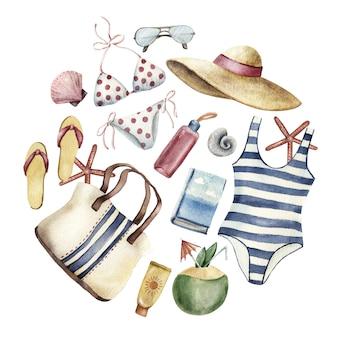 Vestuário de verão para férias de praia