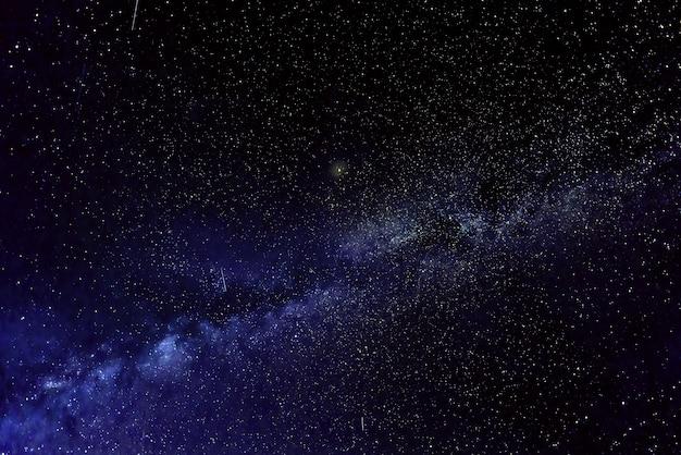 Via láctea com estrelas