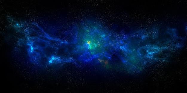 Via láctea. galáxia brilhante. espaço aberto com estrelas. luzes polares