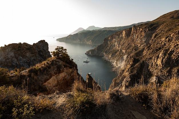 Viagem à ilha eólia de lipari na sicília