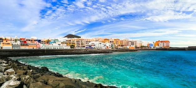 Viagem a tenerife - pitoresca cidade costeira tranquila de puertito de guimar, nas ilhas canárias