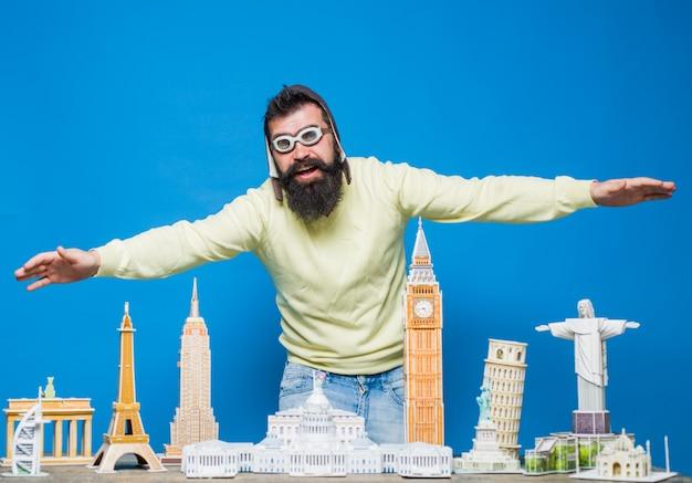 Viagem aventura férias mundos monumentos cópia em miniatura de marcos arquitetônicos mundiais d quebra-cabeças