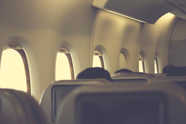 Viagem de assento de voo de janela de avião