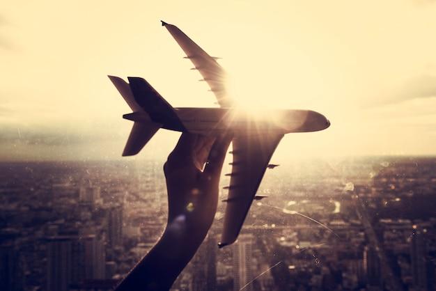 Viagem de avião de avião