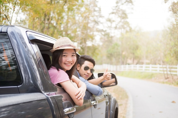 Viagem de carro e viagem por estrada