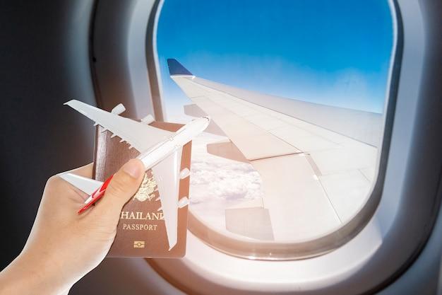 Viagem de voo de passaporte de avião