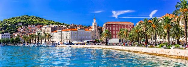 Viagem e pontos de referência da croácia destino popular para turistas e cruzeiros