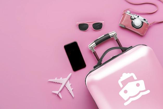 Viagem e transporte com a bagagem