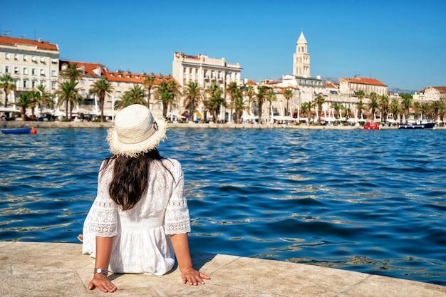 Viagens turísticas em split, na dalmácia, croácia.