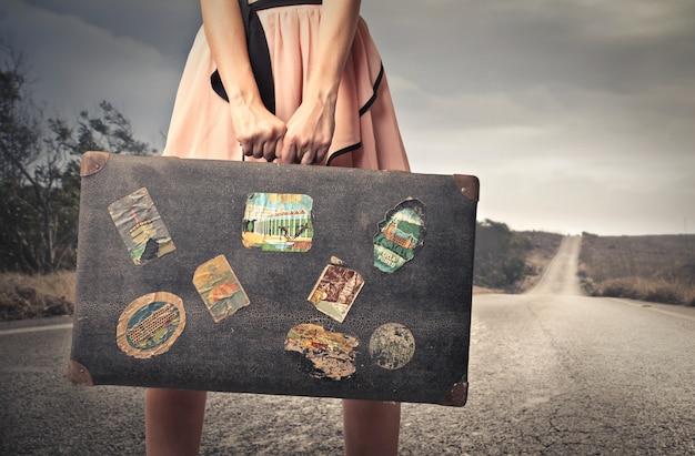 Viajando com uma mala