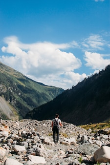 Viajando pelas montanhas