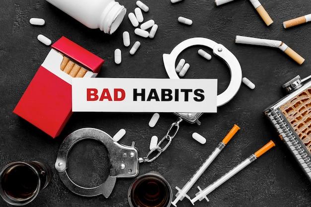 Vícios de maus hábitos