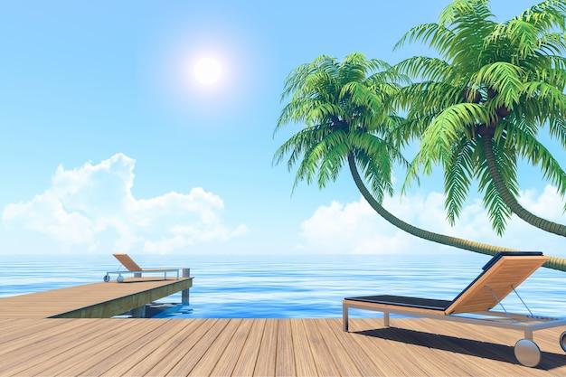 Vida ao ar livre nas férias de verão