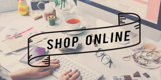 Vida fabulosa de compras online para mulheres