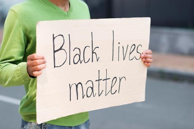 Vida negra importa conceito citação no cartão