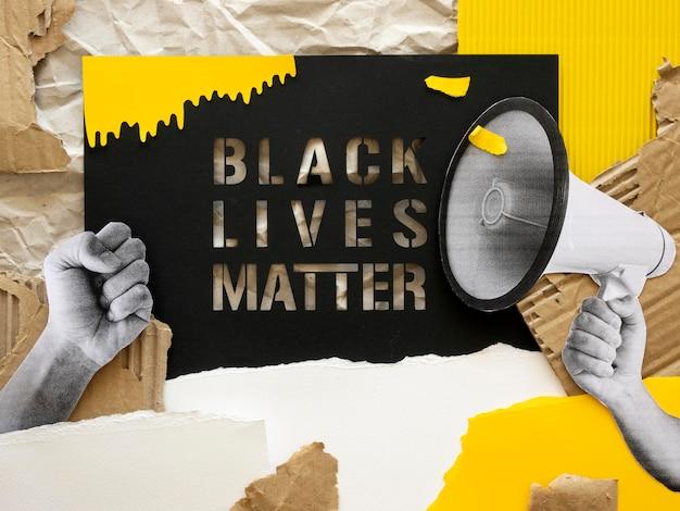 Vida negra importa conceito plano
