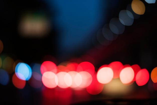 Vida noturna abstrata luz turva
